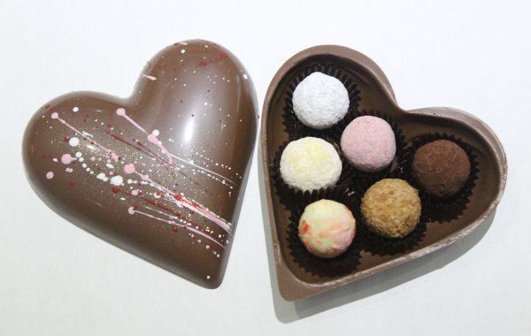 バレンタイン用<br>ハートチョコ<br>ミルク<br>