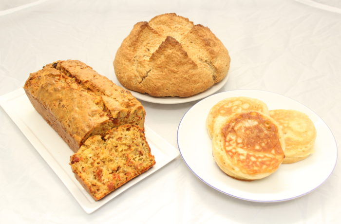 朝食にぴったり<br>ソーダブレッド<br>クランペット<br>ケークサレ